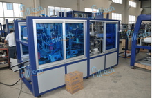 Sink type wrap around carton package machine