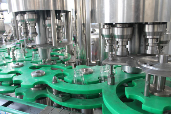 Glass bottle three screw cap filling machine.png